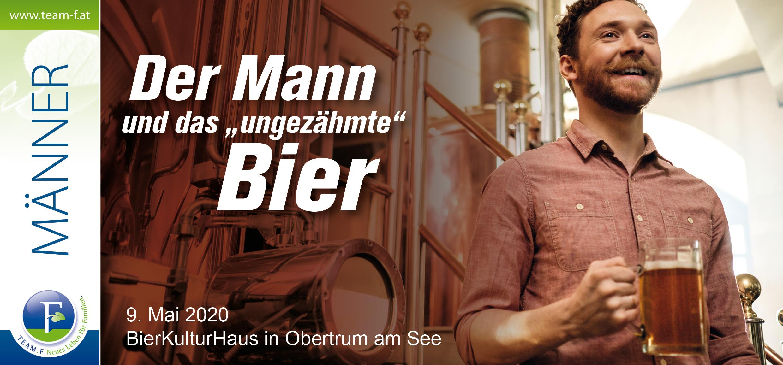 Der Mann und das ungezähmte Bier